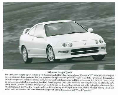 1997 Acura Integra Type R Automobile Photo Poster zch5682