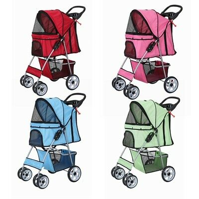 Confidence Deluxe Folding Four Wheel Pet Stroller Travel Carrier