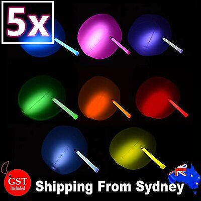 5X 12inches Glow Beach Ball Glow Sticks balls Party Glow in the dark Glowsticks