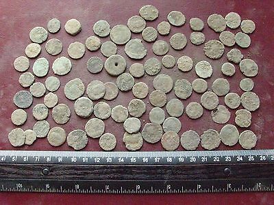 Lot of 85 Authentic Ancient Roman Coins   Mostly 3rd to 5th Centuries A.D. 12359