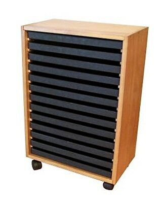 Wooden Storage Cabinet With 13 Standard Jeweler Trays