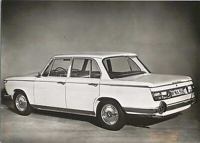 BMW 2000 100 PS Press Photograph Circa 1967