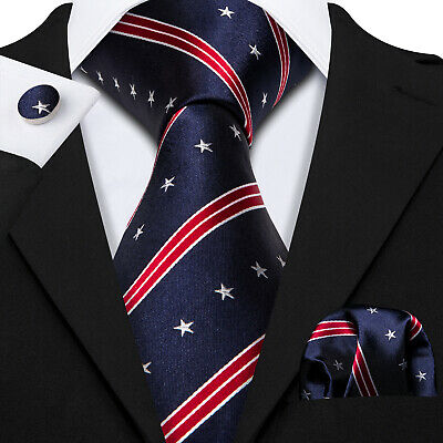 USA Classic Gray Black Mens Tie Paisley 100% Silk Necktie Jacquard Woven Set