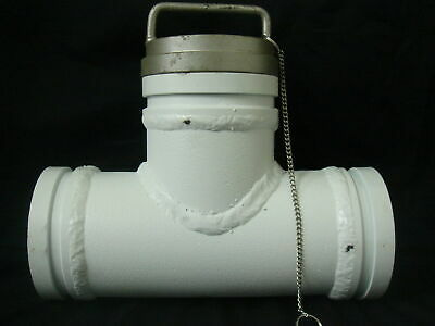 "5"" (125mm) x 600mm T Piece for Concrete Pumps with Bonus Slurry Cap"