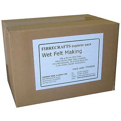 Fibrecrafts Wet Felting Explorer Pack - Get started with Wet Felt Making