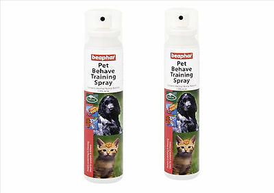 Beaphar Pet Behave Training Spray 125 Ml Twin Pack