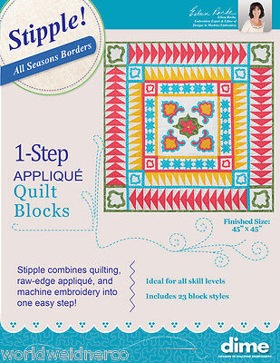 Designs in Machine Embroidery DIME Stipple! All Seasons Borders STP0070
