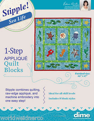 Designs in Machine Embroidery DIME Stipple! Sea Life STP0090