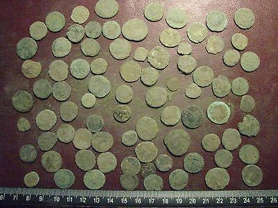 Lot of 85 Authentic Ancient Roman Coins   Mostly 3rd to 5th Centuries A.D. 12365