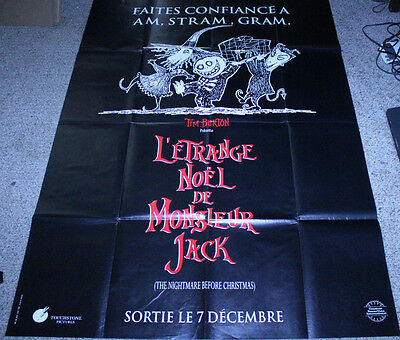 Nightmare Before Christmas In French.Nightmare Before Christmas Original French Grande Advance Movie Poster