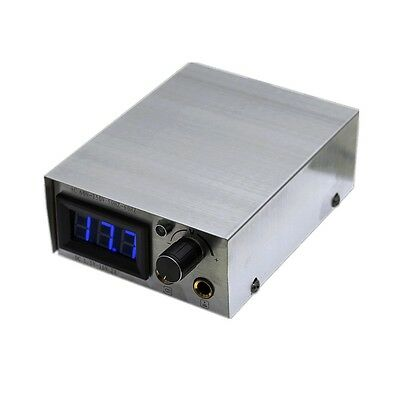 one tattoo digital power supply with cable plug silver 2A for foot pedal cord