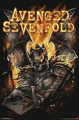 AVENGED SEVENFOLD ~ FIRE SWORD 22x34 MUSIC POSTER A7X Death Skull NEW/ROLLED!