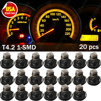 20 XT4/T4.2 Neo Wedge 1-SMD LED Amber Cluster Instrument Dash Climate Lights US