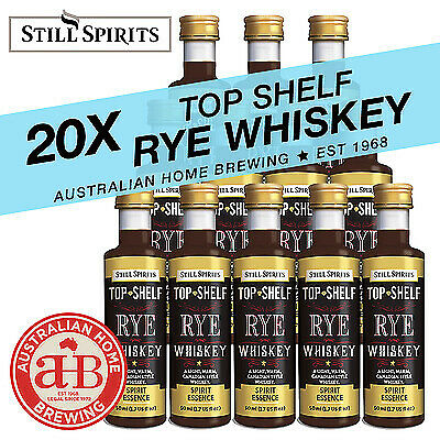 20x Still Spirits Top Shelf Rye Whiskey essence homebrew spirit essences