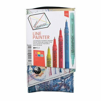 Derwent Graphik Line Painter - 4 Wallets of 5 Markers available - 01, 02, 03, 04