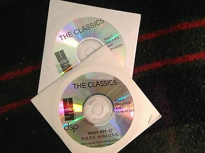 Radio Show: THE CLASSICS! #01-02 HOLLYWOOD ROCKS! TWO HOURS/2CD'S