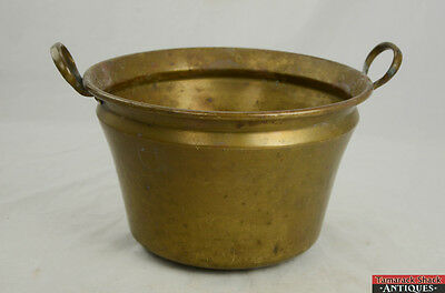 """Antique Brass Double Fixed Handle 12"""" x 7 1/2"""" Fireplace Bucket Ash Water 9280"""