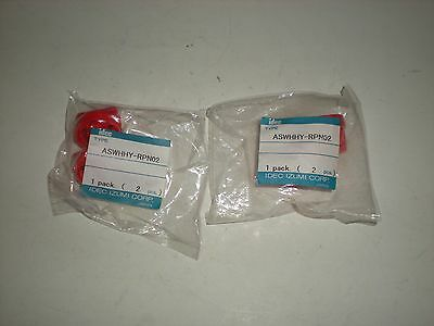 (Lot Of 4) Idec Aswhhy-Rpn02 Aswhhy Rpn02 Red Selector Switch Knobs New
