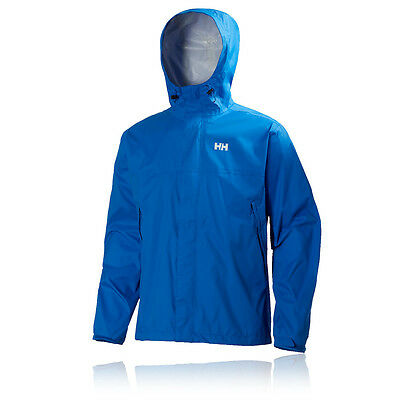 Helly Hansen Mens Loke Blue Waterproof Windproof Running Hooded Jacket