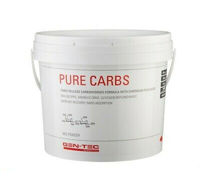 Gen-Tec Pure Carbs 4kg Carbohydrate Gentec Glycogen Waxy Maize Energy Recovery