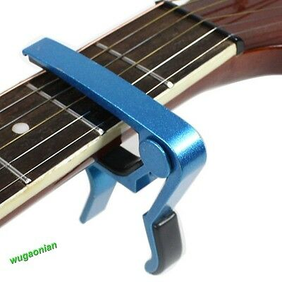 Trigger Quick Change Key Clamp Capo For Acoustic/Electric/Classic Guitar Blue