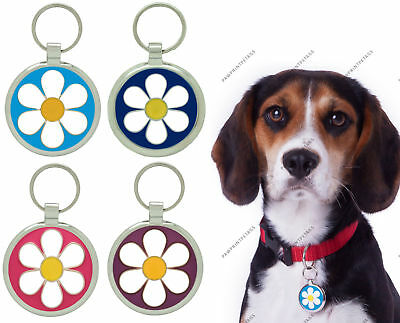 Pet Tag Dog Tags - Custom Engraved Personalised Daisy ID Collar Charm Pettags