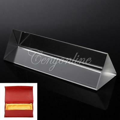 Rainbow Optical Glass Triangular Prism Physics Experiment Light Spectrum 10cm 4""