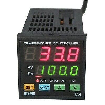 Dual Digital F/C PID Temperature Controller TA4E-SSR 12V DC+ K thermocouple