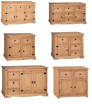 Corona Sideboards Mexican Solid Pine Large Small 1 2 3 4 5 Drawer Door Panama