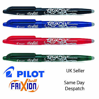 PILOT friXion ROLLERBALL CLICK ERASABLE PENS REFILLS 0.7MM BLACK BLUE RED GREEN