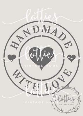 ❤️ STENCIL A5 ❤️ HANDMADE WITH LOVE ❤️ Furniture Fabric Vintage Shabby Chic