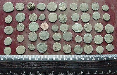 Lot of 50 Authentic Ancient Roman Coins   Mostly 3rd to 5th Centuries A.D. 12409