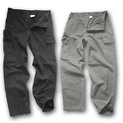 German Army Style Moleskin Trousers Heavy Cotton Work Wear Combat Cargo Pants
