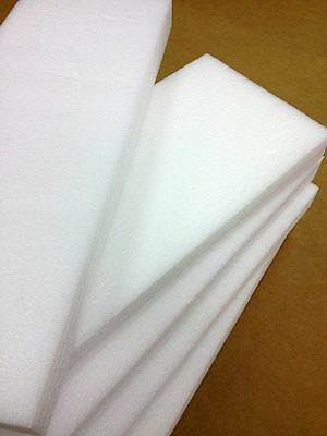 "12"" x 12"" x 1/2"" Polyethylene Foam Sheets White (Qty 48)"
