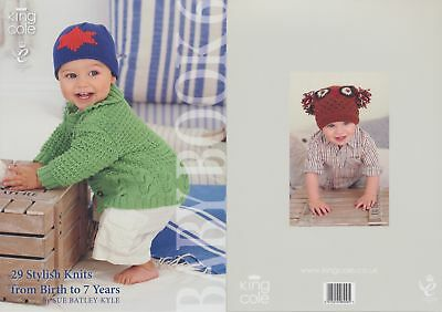 King Cole Baby Book Six Knitting Book Double Knit Patterns Birth to 7 yrs