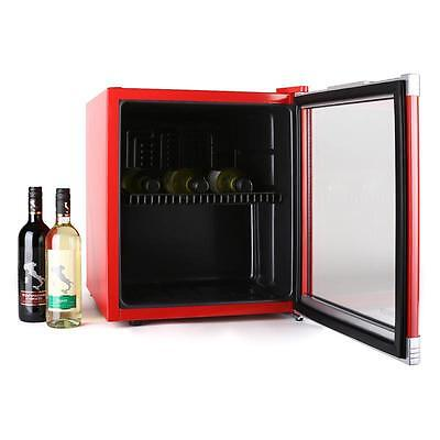 Home Mini Bar Wine Cooling Fridge 46L Beer Can Wine Bottle - Red * Free P&p Uk *