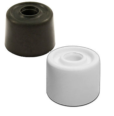 28mm WHITE BLACK RUBBER DOOR STOP STOPS STOPPER JAM WEDGE  1 3 6 PACKS