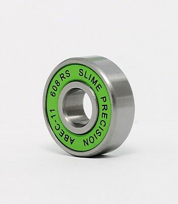 SLIME ABEC 11 608 RS Water Resistant Skateboard Stunt Scooter Inline Bearings