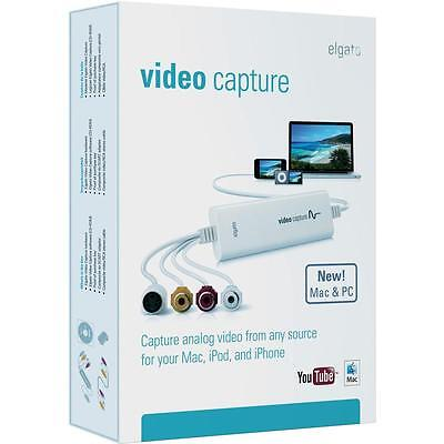 Elgato Video Capture Convert VHS NTSC Video8 Hi8 NTCS to H.264 Mac & Windows PC
