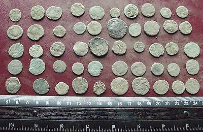 Lot of 50 Authentic Ancient Roman Coins   Mostly 3rd to 5th Centuries A.D. 12408