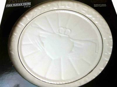 """Belleek Claddagh Plate 9"""" Bisque Hand Crafted"""