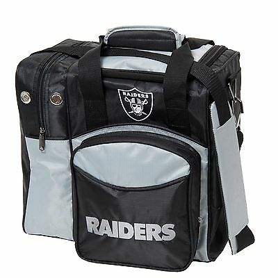 NFL Single Tote 1 Ball Bowling Bag Raiders