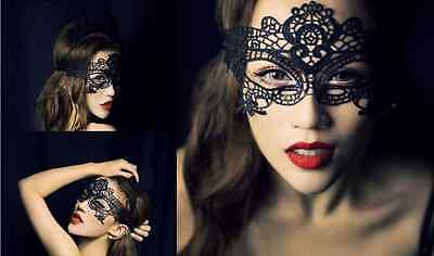 Sexy Lady Black Butterfly Halloween Masquerade Lace Costumes Theatre Mask Hot