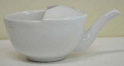 Porcelain Soup, Broth Feeding Cup with Handle, Spout & Strainer Built In