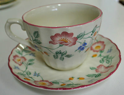 Churchill Floral Tea Cup & Saucer Duo, Made in Staffordshire England