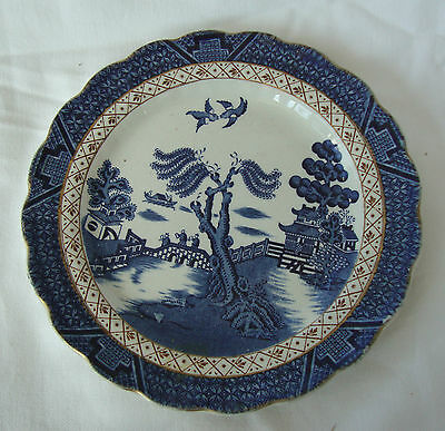 A VINTAGE BOOTHS POTTERY BLUE REAL OLD WILLOW WILLOW PATTERN PLATE