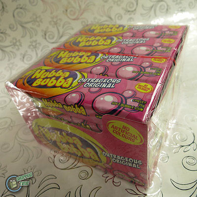 20x Hubba Bubba Wrigley's Soft Bubble Chewing Gum Wrigley Outrageous Pink