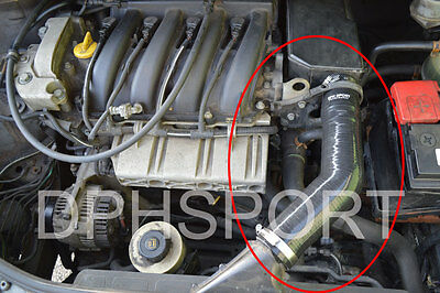 Renault Megane Scenic 1.6 16V Air Filter Intake Silicone Hose Cold Air Feed