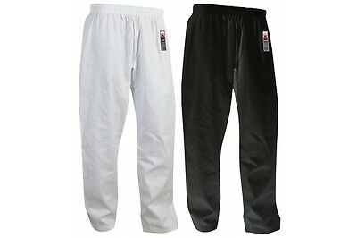 Cimac Adult Karate Trousers Gi Pants White Black Aikido Martial Arts Mens Ladies