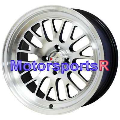 XXR 531 15 15x8 +20 Machine Black Wheels Rims Stance 4x100 95 02 Honda Civic SI